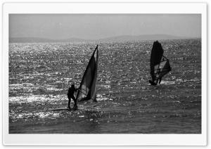 Windsurfing Black And White
