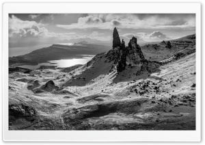 The Old Man of Storr rocky...