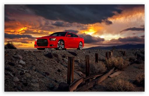 Download Dodge Charger SRT8 Red UltraHD Wallpaper