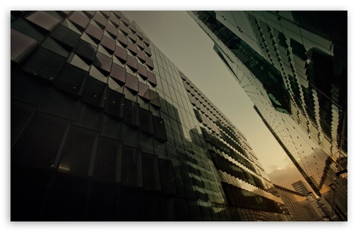 Download Glass Buildings UltraHD Wallpaper