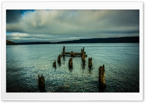 An Old Dock In The Lake