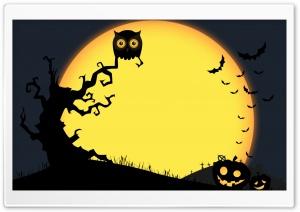 Halloween Full Moon Night,...