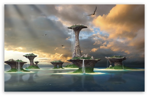 Download Fantasy Islands UltraHD Wallpaper