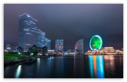 Download Yokohama Ferris Wheel UltraHD Wallpaper