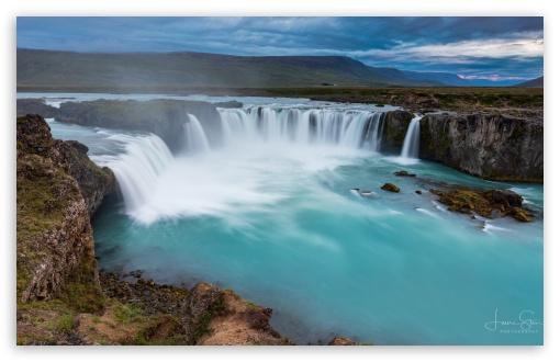 Download Godafoss Waterfall Iceland UltraHD Wallpaper
