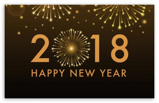 Download Happy New Year 2018 UltraHD Wallpaper