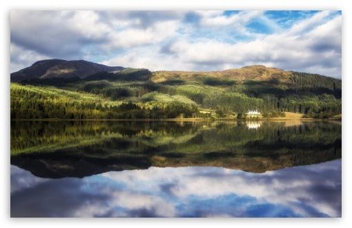 Download Loch Chon, Trossachs, Scotland UltraHD Wallpaper