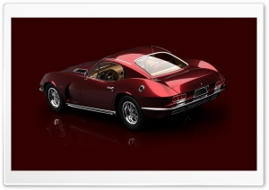 3D Red 1967 Dodge Viper 1