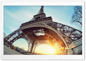 Eiffel Tower Paris Sun