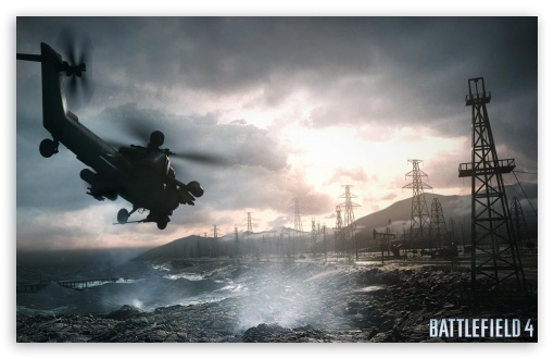 Download Battlefield 4 Chopper Sea UltraHD Wallpaper