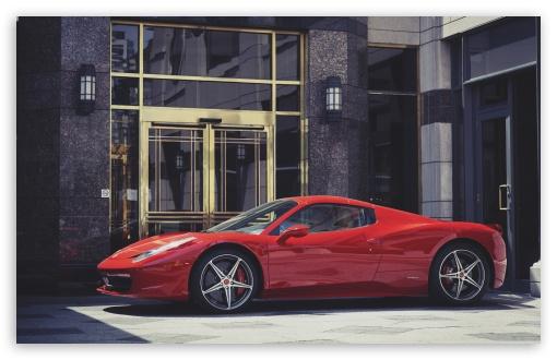 Download Red Ferrari Italia UltraHD Wallpaper