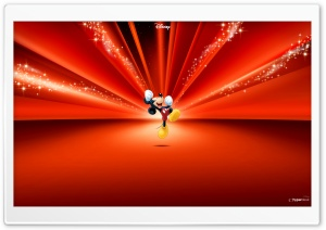 Mickey Mouse Disney Red
