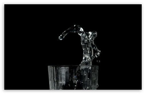 Download Glass Water Splash UltraHD Wallpaper