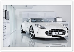 White Aston Martin One 77