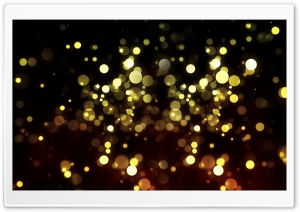 Abstract Golden Bokeh