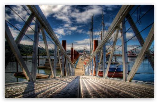 Download Ship Harbor UltraHD Wallpaper