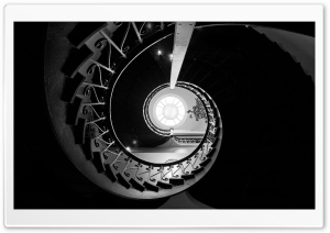 Looking Up The Staircase at...