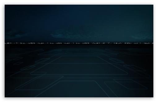 Download Tron Cityscape UltraHD Wallpaper