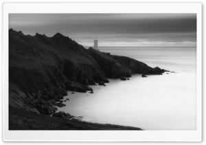 Lighthouse Coast Black and White