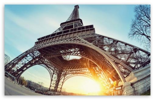 Download Eiffel Tower Paris Sun UltraHD Wallpaper