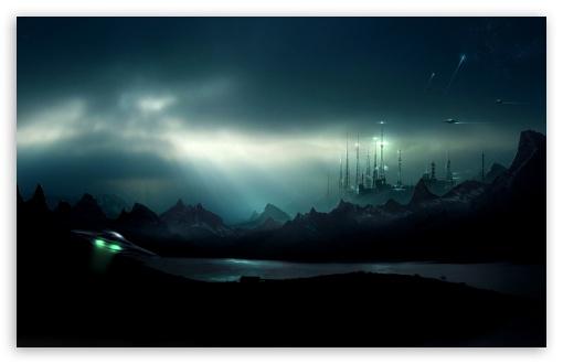 Download UFO Night UltraHD Wallpaper