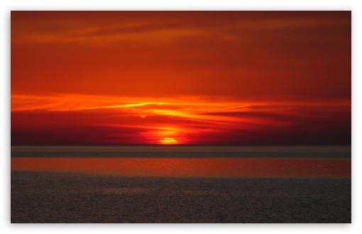 Download Sunset, Bloody Sunset UltraHD Wallpaper
