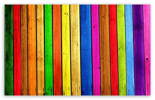 Download Rainbow Wood Background UltraHD Wallpaper