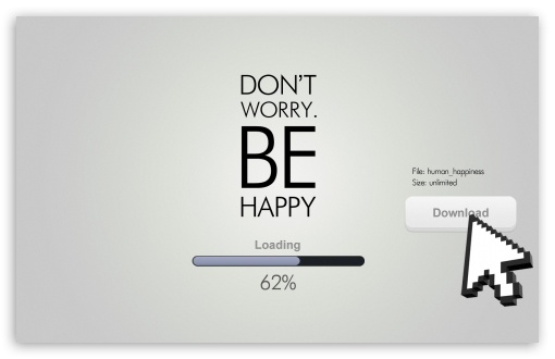 Download Dont Worry, Be Happy UltraHD Wallpaper