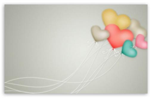 Download Heart Balloons UltraHD Wallpaper