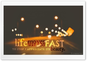 Life Moves To Fast