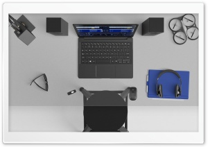 Laptop, Desk, Drone,...