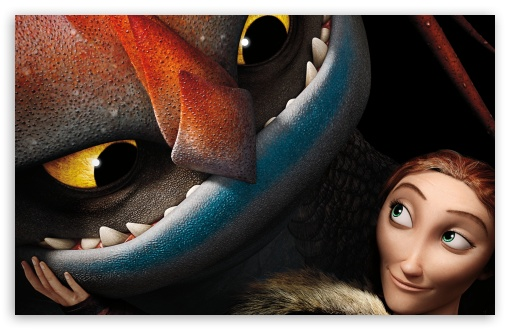 Download How To Train Your Dragon 2 Valka and dragon... UltraHD Wallpaper