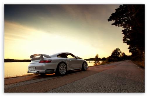 Download Porsche GT2 White UltraHD Wallpaper