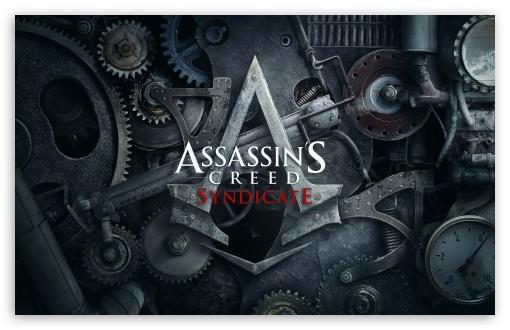 Download Assassins Creed Syndicate 4k Logo UltraHD Wallpaper
