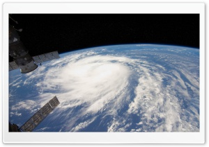 Hurricane From Space View