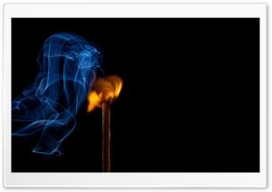 Burning Match with Smoke