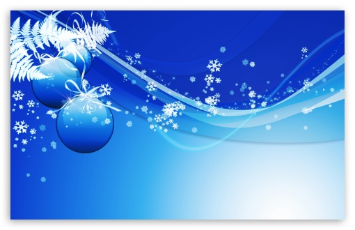 Download Blue Christmas UltraHD Wallpaper
