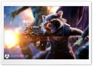 Rocket Raccoon Pumped Up by...
