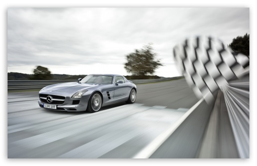 Download Mercedes-Benz SLS AMG Supercar UltraHD Wallpaper