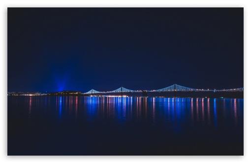 Download Bridge, Night UltraHD Wallpaper