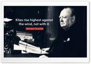 Kites rise highest against...