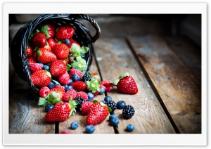 Berries In Basket Macro