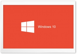Windows 10 2015 Red Background