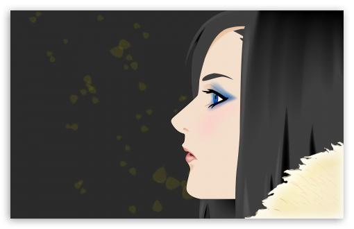 Download Girl Vector Art UltraHD Wallpaper