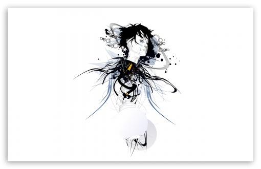 Download Girl Art Illustration UltraHD Wallpaper