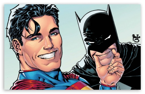 Download Superman and Batman Selfie UltraHD Wallpaper