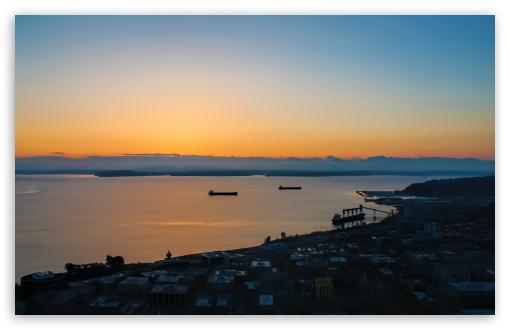 Download Puget Sunset UltraHD Wallpaper