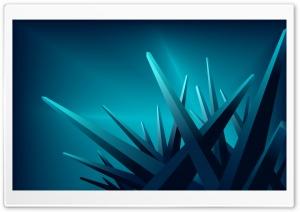 Blue 3D Crystals