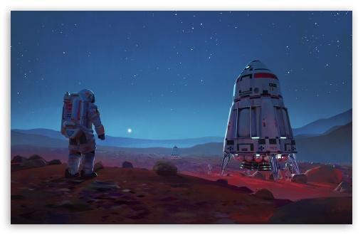 Download Space Exploration Art UltraHD Wallpaper
