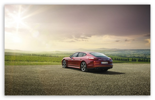 Download Red Porsche Panamera UltraHD Wallpaper